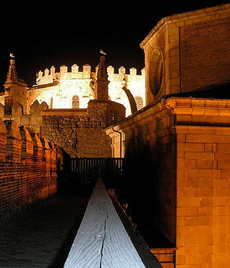 subir a la muralla de Avila