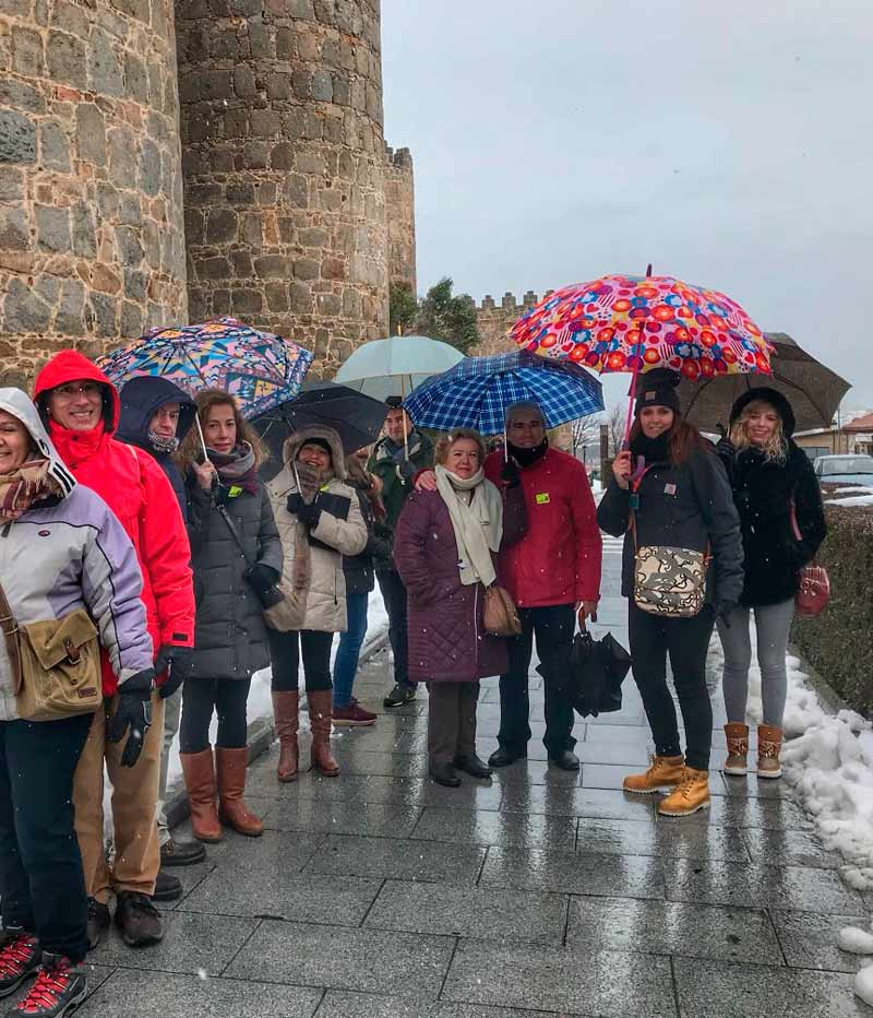 visita a la muralla de Avila